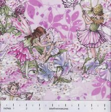 Flower Fairies PETAL Fairy ALLOVER Pink Michael Miller Fabric By the FQ - 1/4 YD