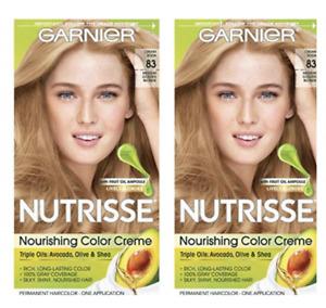 2 Pack Garnier Nutrisse Nourishing 83 Medium Golden Blonde Hair Color Creme