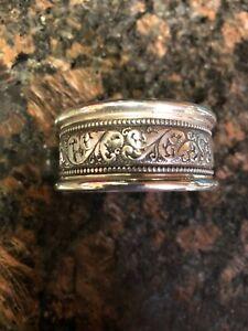 Alvin Sterling Art Nouveau Style Napkin Ring No Monogram, 11 Available