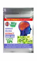 Ginkgo biloba 5000mg Extract blood circulation memory mental alertness Capsules