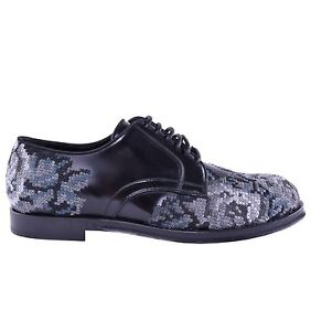 Dolce & Gabbana Runway Baroque Embroidery Shoes Black Baroque Shoes 03897
