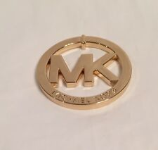 MICHAEL KORS GOLD LARGE METAL  MK LOGO  GOLD   NWOT