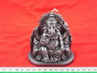 Silver Color Wealth Ganesha Antiques Ganesh Hindu God Elephant Amulet Candle