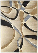 "United Weavers 510-21326 Beige Swirls Wavy Lines 2x3 Area Rug - Approx 1' 10""x3'"