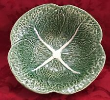 Olfaire Green Cabbage Large Serving Salad Bowl Pottery Majolica 10 in 4 in New