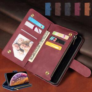 New Retro Leather Zipper Card Wallet Case For Redmi K40 Pro Note 10/10S POCOF3