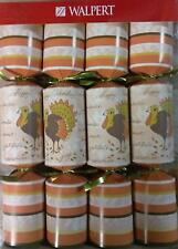 NEW Walpert Holiday Crackers - 9.5 Inch Thanksgiving 8 pc Turkey