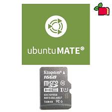 Ubuntu Mate preinstallato 16GB CLASSE 10 scheda SD per Raspberry Pi 2/3