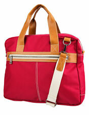 New J. FOLD Montreal Nylon Top Handle Red Briefcase Bag Travel Work