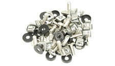 CAGE NUTS FOR 19 INCH RACK.. 50 Pack Including Screws & Washers