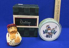 The Golfer Figurine by David Frykman Golf Coasters Golf Nut Lot of 2