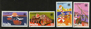 Malta 623-6 MNH Birds, Horse & Carriage, Ship, Boat, Commonwealth Day
