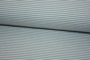 Stoff Baumwoll-Jersey mint-grün weiß gestreift Streifen Stripes Basic