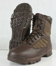 More details for new genuine surplus british military boots bates leather fabric brown us12m