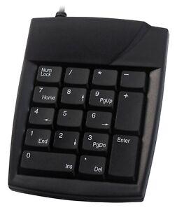 Accuratus 100 - PS/2 Numeric Keypad - Black