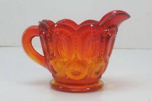 Tangerine Thick Glass Creamer.