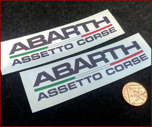Fiat Abarth Assetto Corse Rally Fiat 500 Vinyl Decal Car Sticker Vinyl