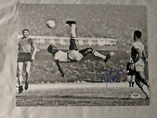 Pele Signed 11x14 Soccer Photo Autographed PSA/DNA COA Brazil Football