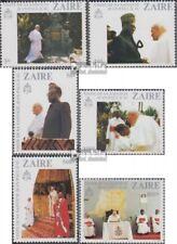 zaïre zaïrois 716-721 (complète edition) neuf avec gomme originale 1981 pape jea