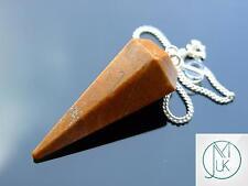 Camel Jasper Gemstone Point Pendulum Dowsing Crystal Dowser Chakra Healing