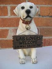 FUNNY LABRADOR RETRIEVER STATUE FIGURINE DOG STATUE