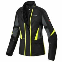 SPIDI TRAVELER H2OUT CE LADY BLACK FLUO WATERPROOF MOTORCYCLE TOURING JACKET
