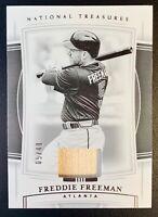 2020 Panini National Treasures FREDDIE FREEMAN Bat Relic SP /49 Atlanta Braves