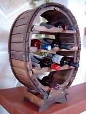 Botellero para vino Recipiente 12 Botellas Estantería Marrón Soporte de