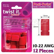 POSI-TWIST 10-22 AWG NON IN-LINE WIRE CONNECTORS, REUSABLE, NO CRIMPING - 12 PK