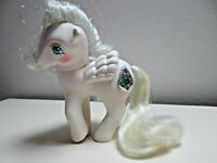 My Little Pony 1987 G1 PRINCESS TIFFANY PEGASUS Tinsel Mane/tail,Cutie GEMS MLP