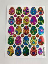 41 ASSORTED EASTER EGGS STICKERS BALLOON KIDS IQ SCRAPBOOK CARD ENVELOPE SEALING