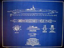 "U-Boat 505 Submarine Type IXC 1940 War Dept. Blueprint Plan  24""x30"" (093)"