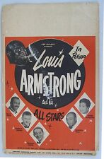 Louis Armstrong and His All Stars Poster,  1950's