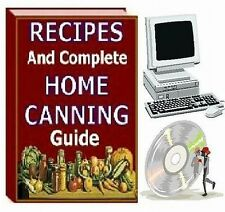 RECIPES AND COMPLETE HOME CANNING GUIDE Cookbook on CD