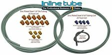 "1999-07 Chevy GMC Truck Zinc Coil Steel Brake Line Repair Kit 3/16"" & 1/4"" SAE"