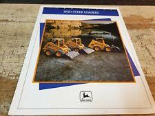 1991 JOHN DEERE SKID STEER LOADERS Original Sales Brochure