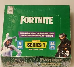 (1)  2019 Panini Fortnite series 1 SEALED 24-PACK Hobby box BLACK KNIGHT HOLO?