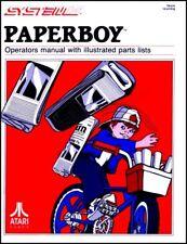 PaperBoy Paper Boy Arcade Video Game Full Service & Repair Operations Manual Wa