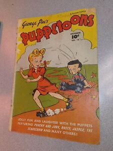 George Pal's Puppetoons #18 Golden age 1947 fawcette kids cartoon puppet show