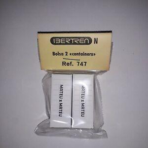 Ibertren diorami scala N articolo 747 busta 2 container