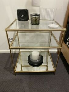 West Elm mirrored bedside table