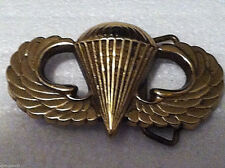 Airborne Belt Buckle (Solid Brass)