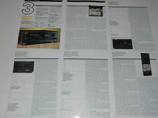 Sony TA-E1000esd Digital Preamp Review 1991, 6 pages, Full Test, Specs, Info