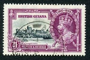 British Guiana SG304 24c Silver jubilee Fine used Cat 23 pounds