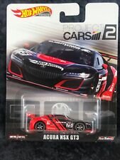 Hot Wheels 2019 Premium Project Cars 2 Acura NSX GT3 Metal/Metal & Real Riders