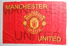MANCHESTER UNITED FC ... football soccer BEAUTIFULL LARGE silk flag 150x100 cm