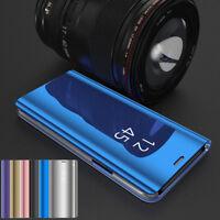 For Samsung Galaxy J8 J6 J4 Smart 360 View Mirror Wallet Leather Flip Phone Case
