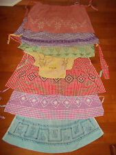 VTG-Mid Centruy 1950s 60s Kitchen Aprons Lot of 7 Colllection Embroidered