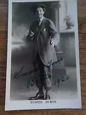 Vintage 1926 SIGNED Black Americana Postcard Hi-Brown BOBBIE BURNS Real Photo