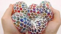 💜Squishy Mesh Water Beads Ball Squeeze Anti Stress Reliever Kids Child Toy 7cm
